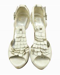 Sapato Just Cavalli couro branco
