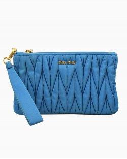 Clutch Miu Miu Nylon azul
