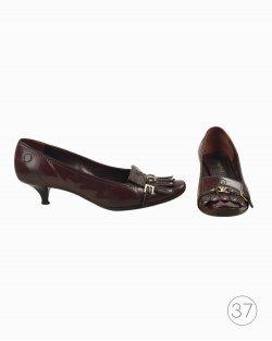 Sapato Louis Vuitton couro vinho