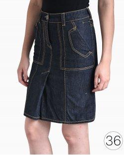 Saia Louis Vuitton jeans azul indigo