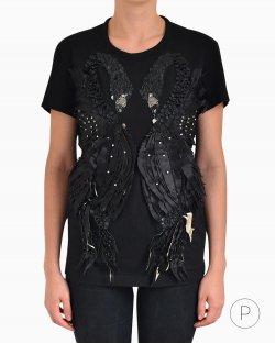 Camiseta Just Cavalli cisne preto
