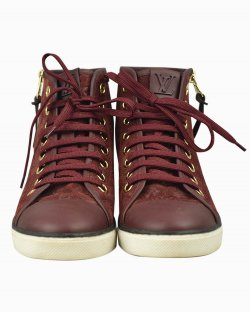 Tênis Louis Vuitton Stellar boot bordô