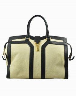 Bolsa Yves Saint Laurent Cabas Chyc de Couro Bicolor