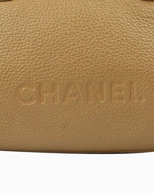 Bolsa Chanel Lax Tassel de Couro Caramelo
