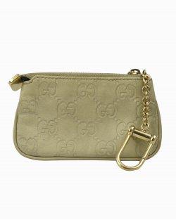 Carteira Gucci Key Case de Couro Verde