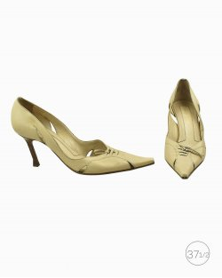 Sapato Sergio Rossi de Couro Bege