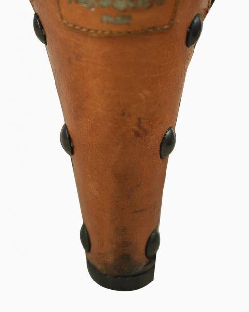 Sandália Yves Saint Laurent de Couro Caramelo  Vintage