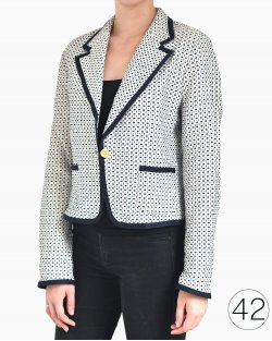 Blazer Weekend by Max Mara branco e azul