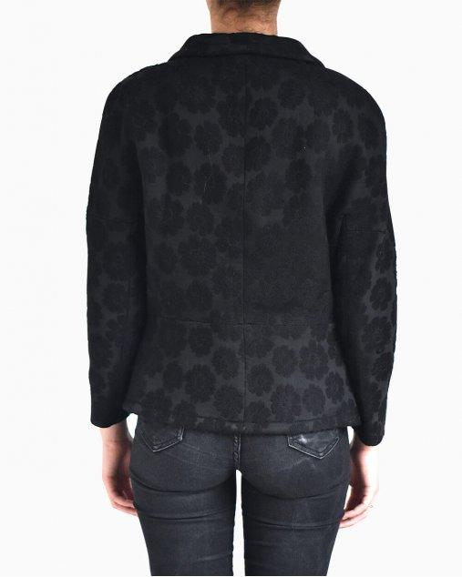 Blazer Max Mara bordado flores preto