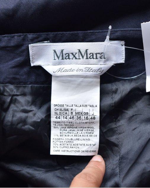 Saia Max Mara lápis azul marinho