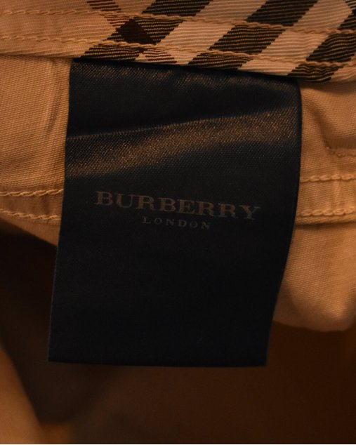 Calça Reta Burberry Caqui