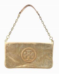 Bolsa Tory Burch couro dourado