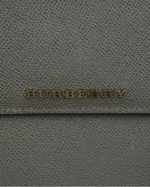 Porta Ipad Burberry de Couro Chumbo