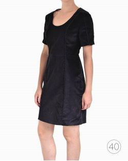 Vestido Cris Barros veludo preto
