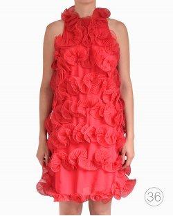 Vestido Emporio Armani de Babados Vermelho