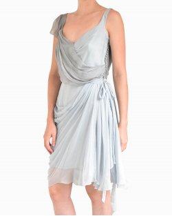 Vestido Christian Dior de Seda Cinza