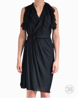 Vestido Christian Dior de Seda Preto