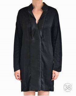Vestido Gola Smoking Stella McCartney de SXSW Preto