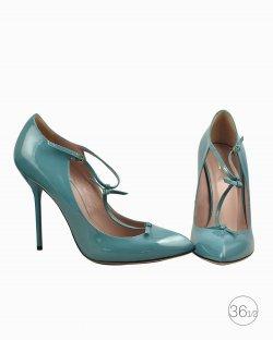 Sapato Gucci verniz azul
