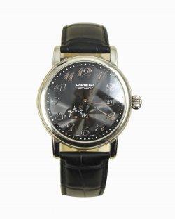 Relógio MontBlanc em couro preto