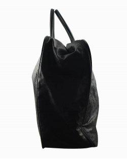 Mala Gucci de mão monograma preta