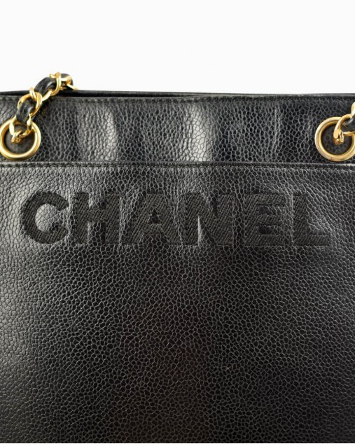 Bolsa Chanel vintage couro preto