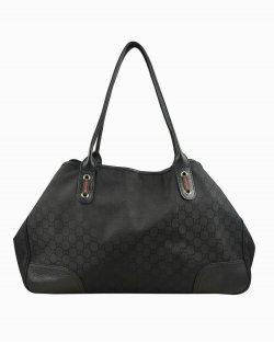 Bolsa Gucci Guccissima large princy tote preta