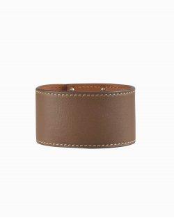 Bracelete Hermès Kelly Dog Marrom