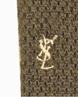 Gravata Saint Laurent lã verde