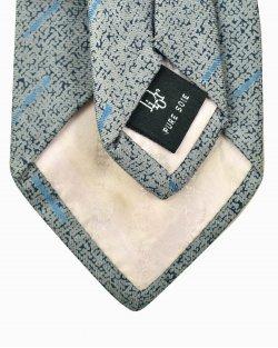 Gravata Christian Dior seda cinza e azul