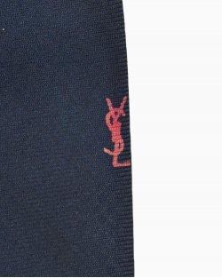 Gravata Saint Laurent seda azul escuro