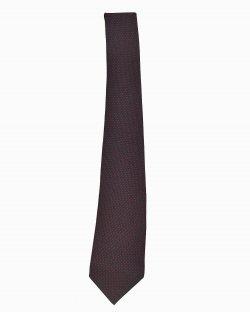 Gravata Saint Laurent vintage poa vermelho