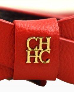 Cinto Carolina Herrera monograma e vermelho