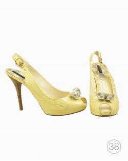 Peep Toe Louis Vuitton New Saint Honore amarelo