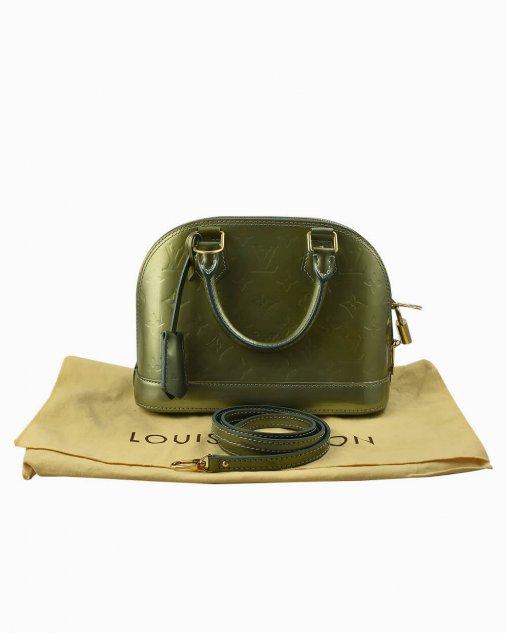 Bolsa Louis Vuitton Alma BB de Verniz Verde