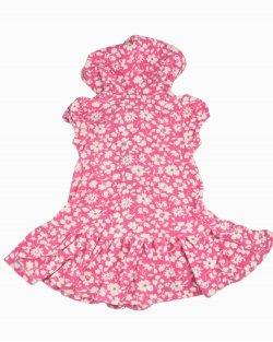Saída de banho Ralph Lauren infantil rosa