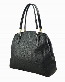 Bolsa Coach em couro preto