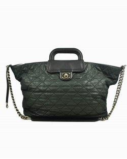 Bolsa Chanel  In-the-Mix Large Shopping de Couro Preto