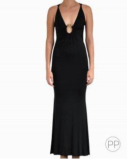Vestido Roberto Cavalli longo preto