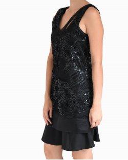 Vestido Glória Coelho paête preto