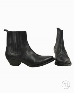 Bota Saint Laurent ankle boot preta
