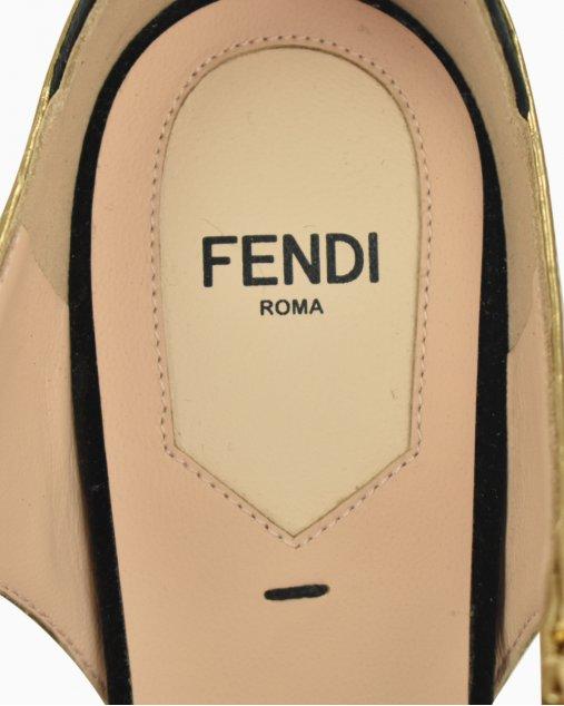 Sandália Fendi veludo preto