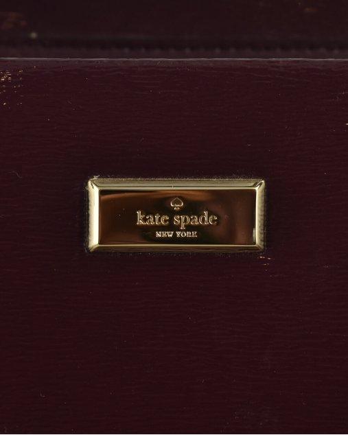 Bolsa Kate Spade couro vinho