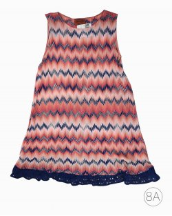 Vestido Infantil Missoni Tricolor