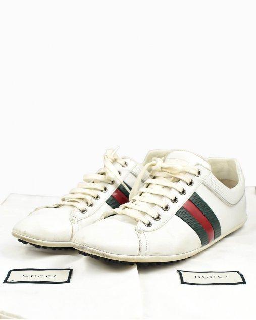 Tênis Gucci em couro branco
