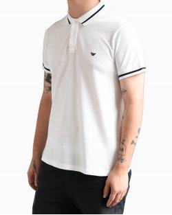 Camiseta polo Empório Armani branca