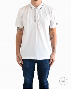 Camiseta polo Hugo Boss branca