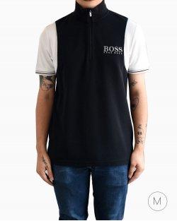 Camiseta Hugo Boss gola alta em preto e branco