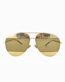 Óculos Christian Dior Split Dourado