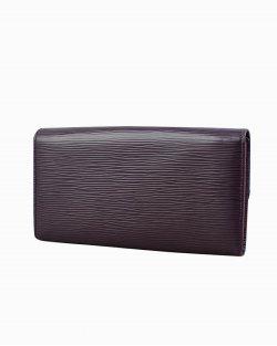 Carteira Louis Vuitton de Couro Epi Roxo